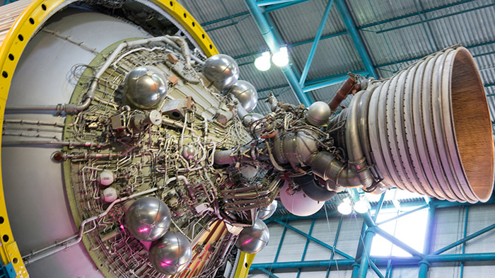 The J2 engine of a S-IVB stage